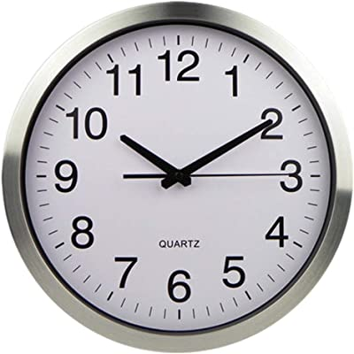 GrocerieSS Wall Clock/Decoration, Simple and Modern Silent Quartz Clock Stainless Steel electronicclock IKEA