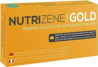 NUTRIZENE GOLD - Nuevo suplemento alimenticio seguro. efectivo y 100% natural para hombres para mejorar el rendimiento y ayudar a aumentar la resistencia y resistencia energética - 12 cápsulas