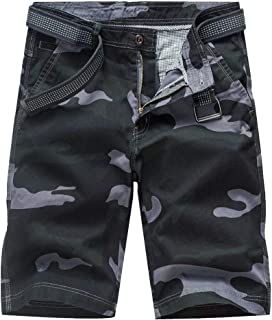Zimaes Men's Straight Print Loose Fit Camouflage Plus-size Airsoft Pants
