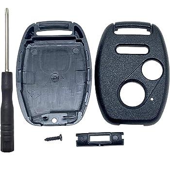 2007-2013 CR-V 2009-2013 Fit Key Fob Keyless Entry Remote Shell Case /& Pad fits Honda 2010-2011 Accord Crosstour 2011-2014 Odyssey 2011-2015 CR-Z 2006-2011 Civic