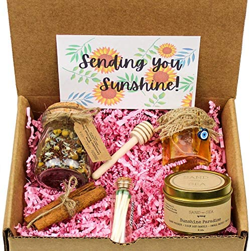 Box of Sunshine Gift Basket Best Friends Thinking of You Gifts Care Package for Women Get Well product image