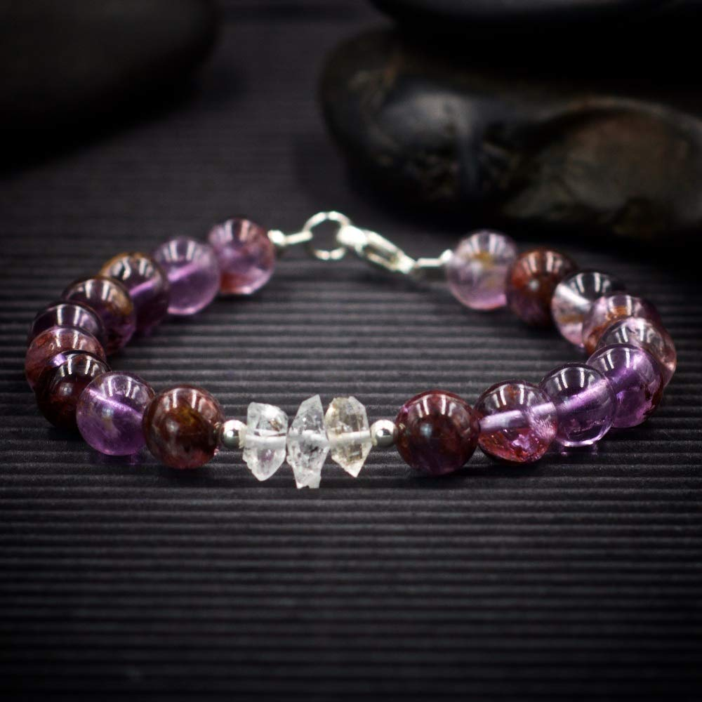 Auralite 23 and Herkimer Diamond free shipping Bracelet Empowers you kn - with Fixed price for sale