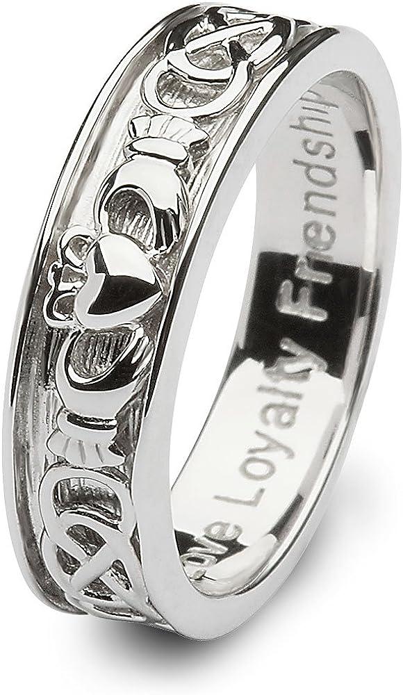 Ranking TOP1 Mens Washington Mall Claddagh Wedding Ring Ireland. Made SM-SD9. in