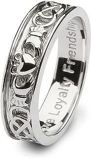 Mens Claddagh Wedding Ring SM-SD9. Made in Ireland.
