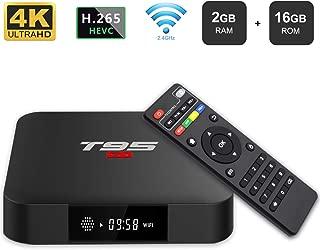 Android 7.1 TV Box, YAGALA T95 S1 Amlogic S905W Quad Core 2GB/16GB HDMI 4K Full HD Ethernet WiFi 2.4GHz USB Media Player