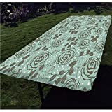 Best SE Grain Mills - Floral Polyester Fitted Tablecloth,Romantic Season Inspirations with Roses Review