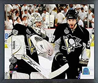 9e66bc51cf3 Marc-Andre Fleury & Kris Letang Pittsburgh Penguins 2009 NHL Stanley Cup  Finals Action Photo