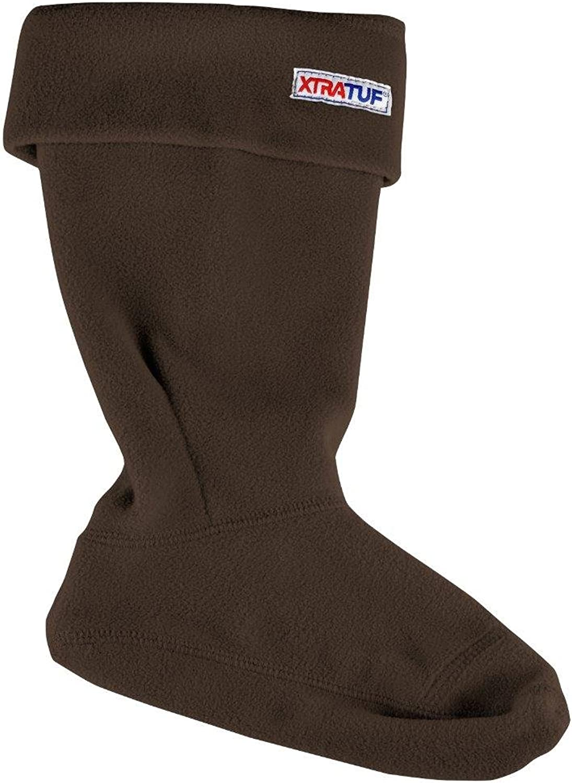 Xtratuf 28115-BRN-LRG Women's Fleece Liners, Brown (28115), Large, Chocolate Tan Brown