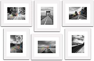 "Art Street Decorative Premium Set of 6 Individual Wall Photo Frame (6"" X 8"" Picture Size matted to 4"" x 6"") - Copper"