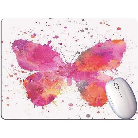 FlyInk Mini Tappetino per Mouse, Dimensione 240x200x2mm, Resistente all'Acqua, Base in Gomma Antiscivolo, per Mouse PC/Mac/Laptop. (Farfalla)