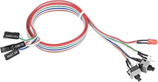 uxcell 2 PIN Power Cable with 2 LED Red and Clear, 2 Switch for ATX Computer 55cm 3pcs