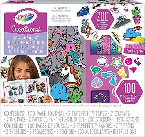 CRAYOLA- Creations Set Decora Il Tuo Album, per Colorare e Personalizzare Il Diario Incluso, Colore, 04-0466