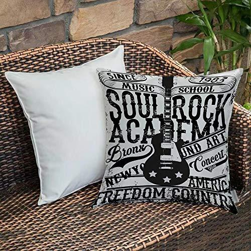 Funda De Cojine Funda de Almohada,Retro, Soul Rock Academy Theme Music School...