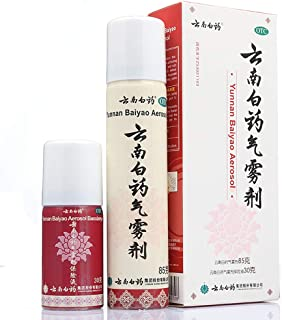 Yunnanbaiyao Pain Spray (Formula of Chinese Herbal Medicine), Fast Relief for Sore Muscles and Arthritis, Natural Remedy for Minor Sports Injuries