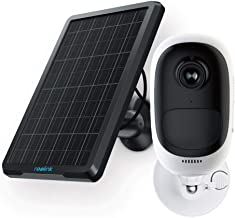 REOLINK Argus Pro+Solar Panel - Wireless Rechargeable Battery Security Camera with Solar Panel for Outdoor Surveillance, 1080p HD Night Vision, 2-Way Audio, PIR Motion Sensor, SD Socket and Cloud