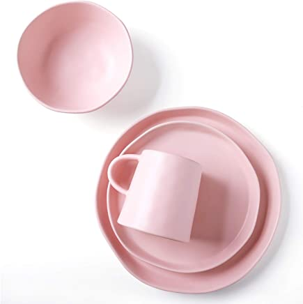 fb6a83c8e8d1 Amazon.com: Pink - Dinnerware Sets / Dinnerware: Home & Kitchen