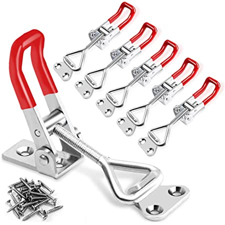 Jieddey Toggle Clamps,4 PCS Toggle Catch Latches with Keyhole Cabinet Boxes Case Adjustable Metal Latch Hasp Heavy Duty Door Bolts Quick Release Tool 100KG//220lbs