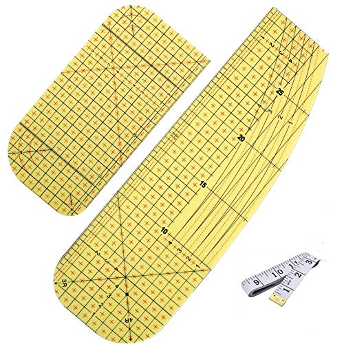 2 PCS Hot Ironing Measuring Ruler(with Soft Tape Measure),Fabric Heat-Resistant Ruler-High Temperature Resistance Ironing Iron Rulers DIY Sewing Supplies Measuring Handmade Tool for Clothing Making