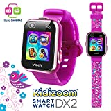 VTech KidiZoom Smartwatch DX2 Special Edition Floral Birds with Bonus Vivid Violet Wristband, Great Gift For Kids, Toddlers, Toy for Boys and Girls, Ages 4, 5, 6, 7, 8, 9