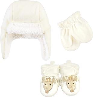 Hudson Baby Unisex czapka chwytakowa dla dzieci, zestaw rękawiczek i botków, żyrafa, 12-18 miesięcy