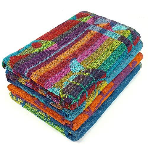 Kaufman - Terry Beach & Pool Towel 4-Pack of Assorted Designs - 30in x 60in (104700)