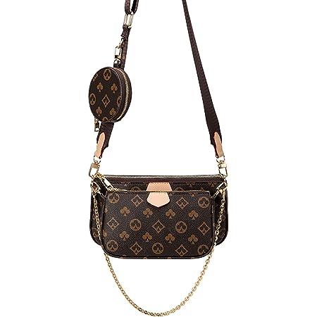 Showlovein Mahjong Bag Umhängetasche Schultertasche 3 in 1 Luxus-Handtasche PU Leder Tragetaschen Fashion für Frauen