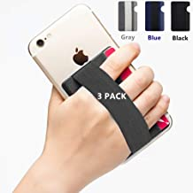 YMHML Phone Grip Card Holder for Back of Phone, Credit Card Holder Stick-On Wallet by 3M Self Adhesive Safety Finger Strap for Cell Phone Android iPhone Pocket Pouch with Band