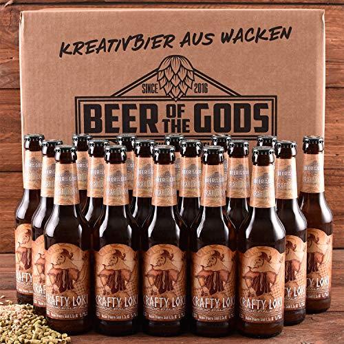 WACKEN BRAUEREI Pale Ale Craft Beer Box 20 x 0,33 l Flasche | CRAFTY LOKI | Viking Craftbeer Set Gift for Men | Wikinger Kraft Bier Geschenk für Männer | Party Festival Heavy Metal