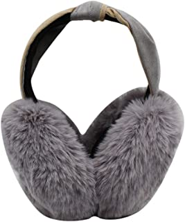 Women Girls Winter Warm Earmuffs Large Faux Fur Foldable Outdoor Ear Warmers