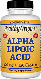 Healthy Origins Alpha Lipoic Acid 600 MG, 150 Count