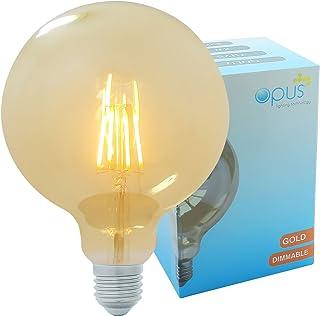 Vintage Filament Large Globe Opus Classic 5W LED Dimmable Gold Coated G125 Light Bulb ES E27 Edison Screw Cap