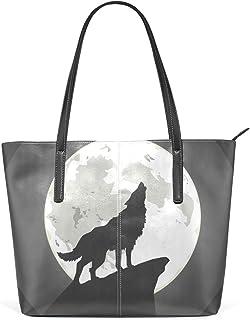 FANTAZIO Handtasche Schultertasche Heulender Wolf