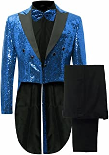Men's Gorgeous 2 Pieces Sequins Tailcoat Suits for Wedding/Nightclub/Prom