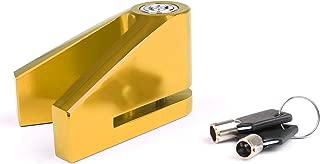 Artudatech 5mm Security Motorbike Motorcycle Wheel Disc Brake Lock Anti-theft Lock Gold