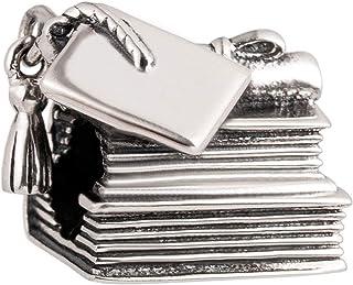 Breloque livre en argent sterling 925 pour bracelet Pandora