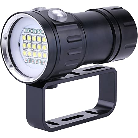 Waterproof LED Glare Flashlight Portable Diving Torch  Photography Fill Light