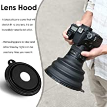 Collapsible Ultimate Lens Hood Anti-Glazing Silicone Camera Cover Sun Shade/Shield - Reduces Lens Flare and Glare, Blocks Excess Sunlight for Enhanced Photography and Video Footage (for Camera)