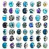 TOAOB ガラス製 ヨーロピアンランプワークビーズ 50個 大きな穴のスペーサービーズ ラインストーンメタルチャーム用品 ブレスレット/ネックレス/ジュエリー製作用