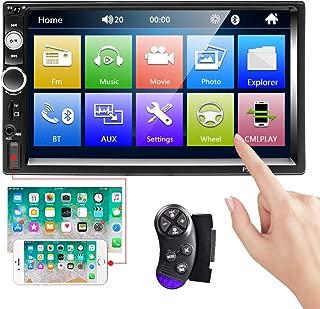 Camechoカーステレオ2ディン7インチタッチスクリーンカーラジオMP5プレーヤーFM Bluetooth通話IOS/Android携帯用ミラーリンクAUX/USB/SD付きサポート背面図のカメラ入力 + ステアリングホイールリモコン