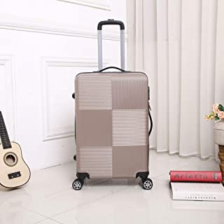 Student Suitcase Travel Suitcase Luggage Suitcase Male Trolley case Four-Wheeled Lightweight Gold 24 inch