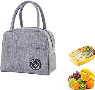 Youkii Sac Isotherme Repas,Lunch Bag Portable, Sac à Lunch Sac Thermique pour Enfants Femmes (1 Pcs-Gris (Style 2))