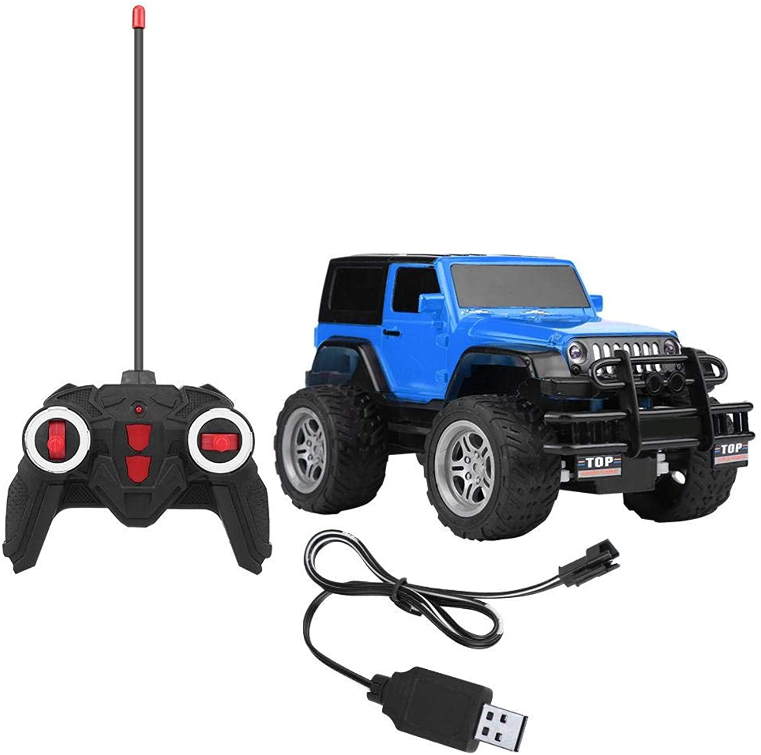 Generic 1 18 2.4GHz Frequency 4CH Rechargeable Racing Vehicle 1 18 Scale RC OffRoad Car Toy Kids Gift bluee