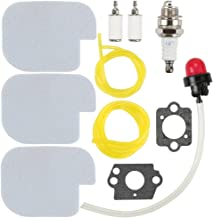 Mckin 530057925 530069247 Air Filter 530095646 Fuel Filter with Fuel Line Spark Plug Gasket Primer Bulb for Poulan Craftsman Chainsaw P3314 P3416 P3816 P4018 PP3416 PP3516 PP3816 PP4018 PP4218 PPB3416