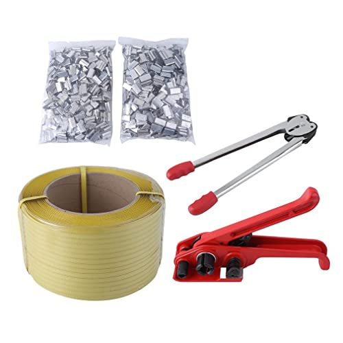 1.2cm Polypropylene Polyprop Strap 2000 Semi Open Strong Metal Seals Clips For 12mm Hand Pallet Strapping Banding 25mm Long For Use With A Sealer Sealing Tool