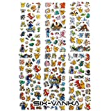 SIX VANKA 3D Puffy Stickers for Kids, 6 Different Sheets