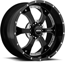 SOTA Offroad 561DM Novakane Death Metal Gloss Black w/Full CNC Milling Wheel with Painted Finish (22 x 9.5 inches /6 x 5 inches, 0 mm Offset)