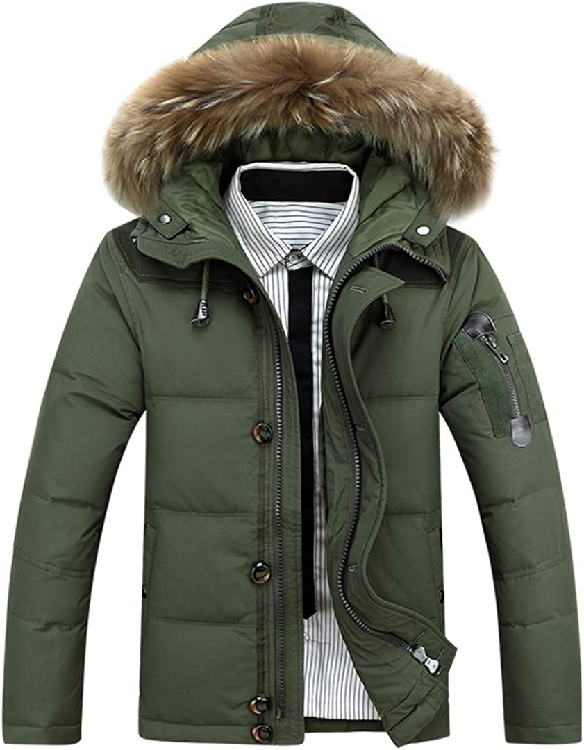 All-Ketonris Male Winter Parkas Duck Down Jacket Hooded Outdoor Thick Warm Padded Snow Coat