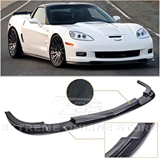 Extreme Online Store Replacement for 2005-2013 Chevrolet Corvette C6 Wide Body Models   ZR1 Style ABS Plastic Painted Carbon Flash Metallic Front Bumper Lower Lip Splitter