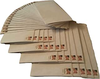 20 Stamped Envelopes -Number 10 Security Envelopes (Stamp and Envelope Design May Vary) (One Pack)