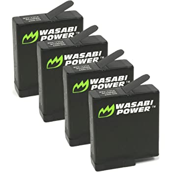 Wasabi Power Battery (4-Pack) for GoPro Hero 8 Black, Hero 7 Black, Hero 6 Black, Hero 5 Black, Hero 2018